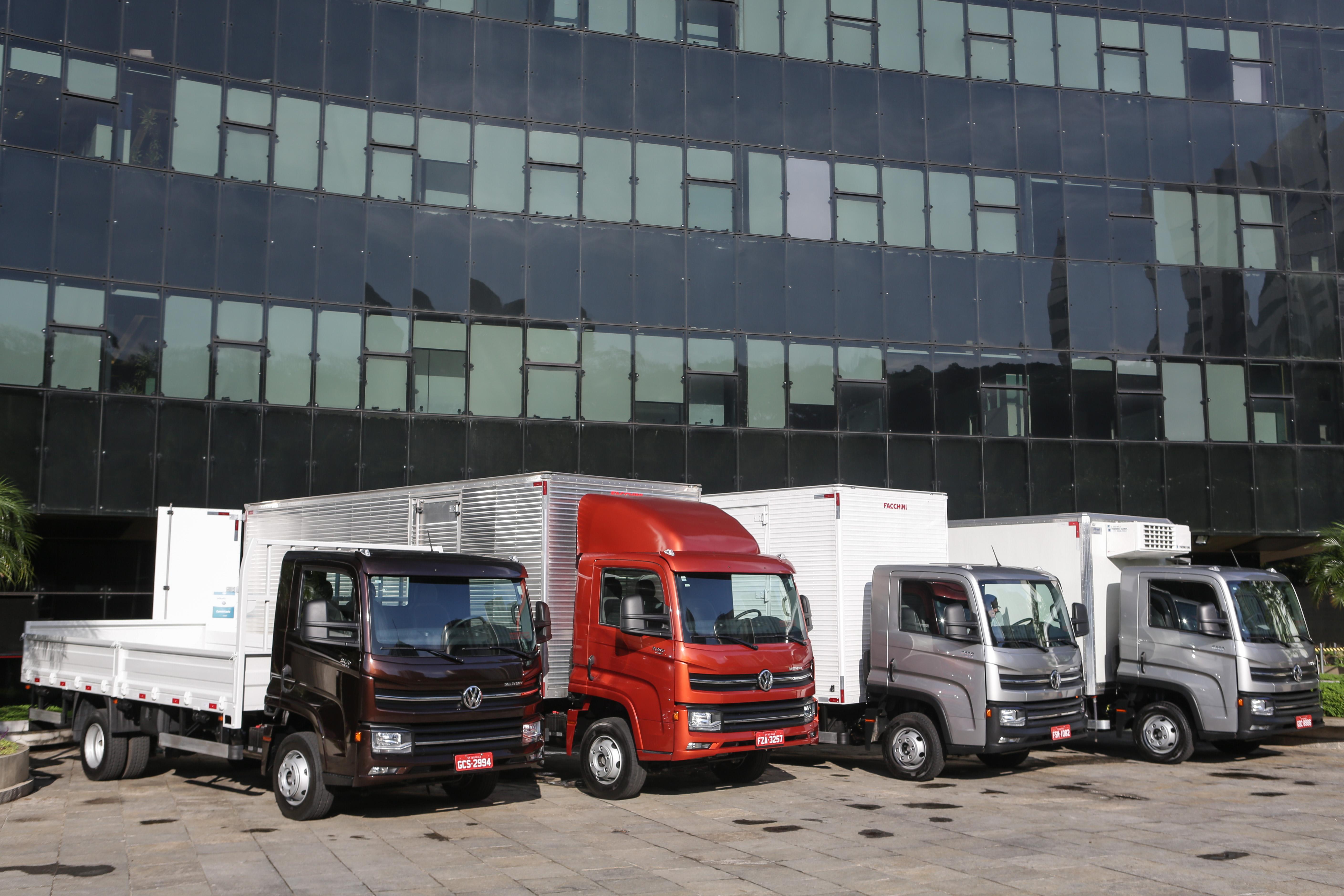 Caminhões Volkswagen celebram alta de vendas na Logistique