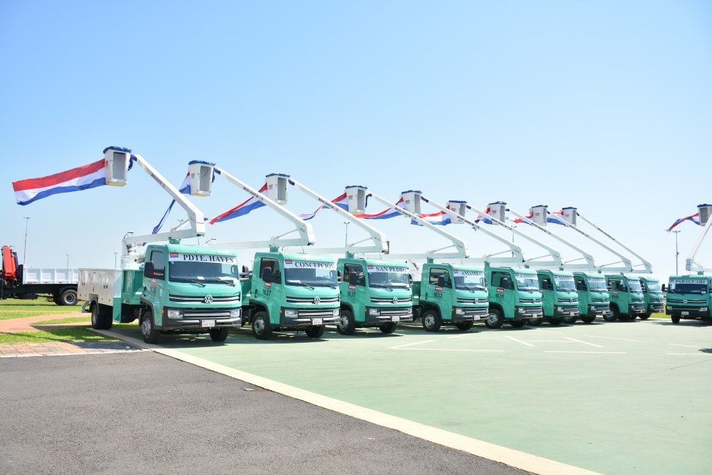 21 caminhões Volkswagen desembarcam no Paraguai