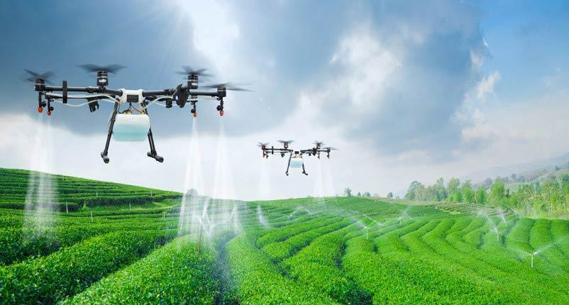 Drones substituem máquinas na agricultura