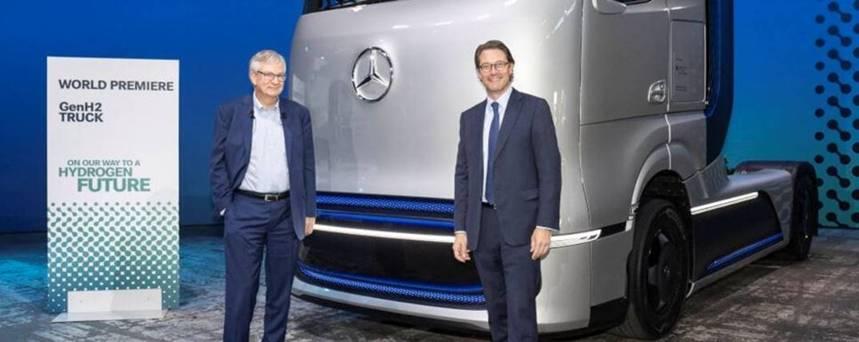 Daimler Trucks faz estreia mundial do caminhão-conceito movido a células de combustível