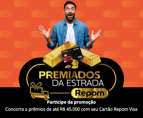 Com cadastro por WhatsApp, caminhoneiros podem concorrer a mais R$ 130 mil com a promoção Premiados da Estrada Repom
