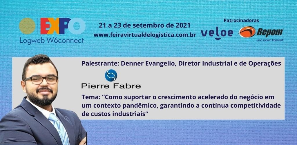 Denner Evangelio apresenta estudo de caso da Pierre Fabre na Expo Logweb W6connect