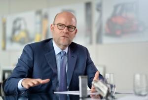 Gordon Riske, Vorsitzender des Vorstands der KION GROUP AG; Foto: KIONGROUP/Oliver Lang